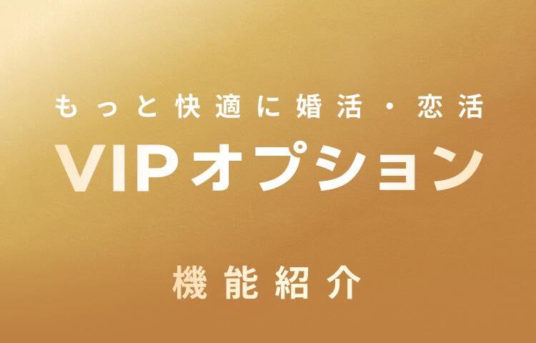 withのVIPオプションの画像。もっと快適に婚活・恋活 VIPオプション 機能紹介