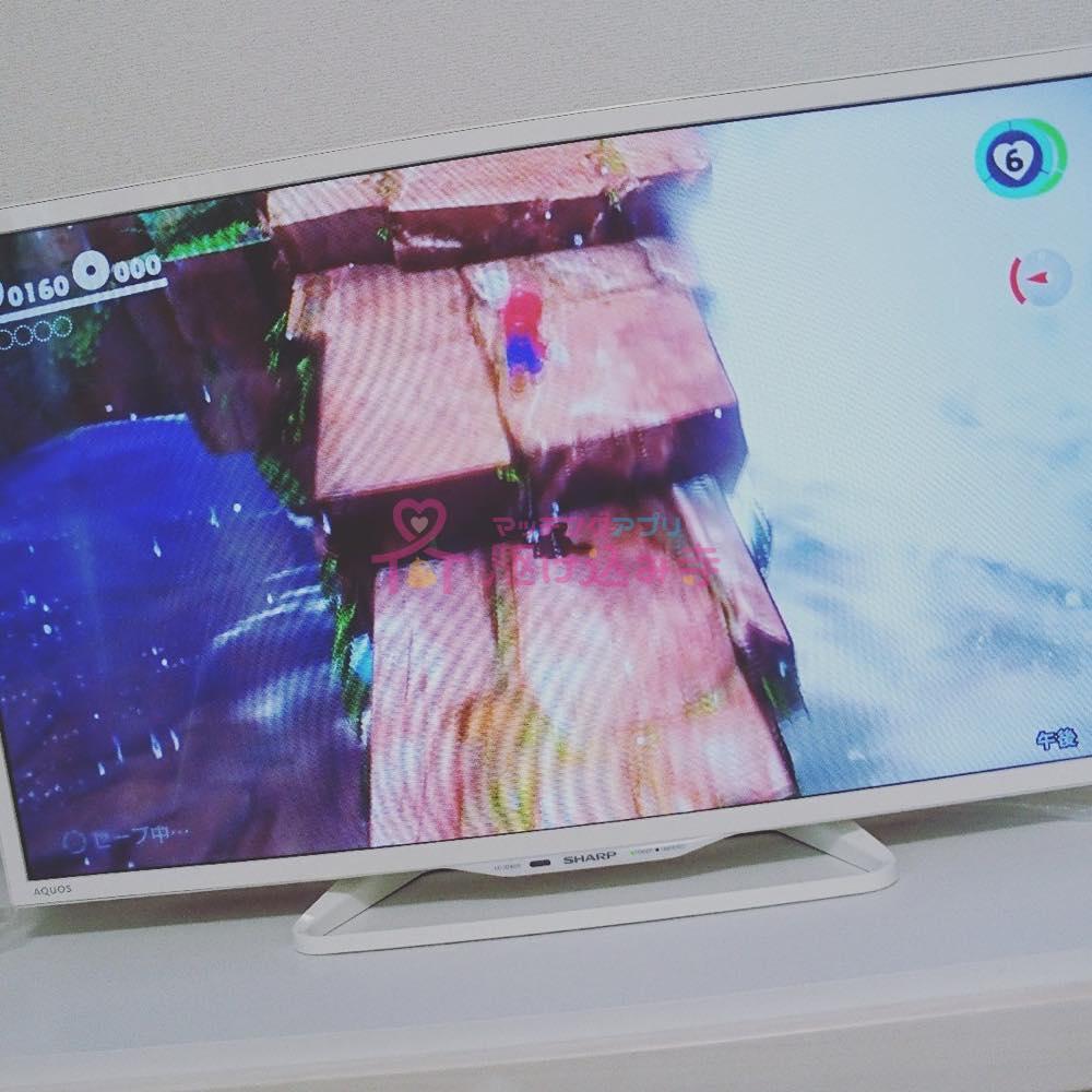 テレビゲームの画面の写真